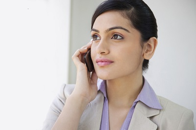 phone marketing - lady with phone