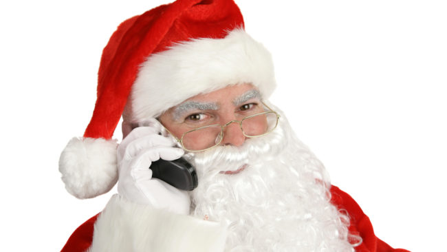 Happy Santa on Phone